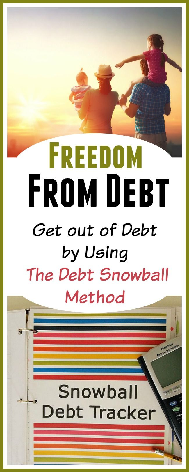 Get Out of Debt By Using The Debt Snowball Method - Are you trying to pay down debt but you're not getting anywhere? Consider using the debt snowball system to get rid of your debt for good. Here's how it works and also a list of Debt Snowball Calculators that you can use. | Budgeting | How to get out of debt | Paying off bills | Financial Freedom