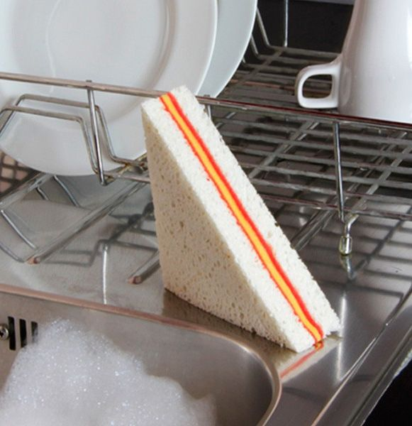 Because you've always wanted to wash your dishes with a sandwich sponge | DESIGN FETISH: The Sandwich Sponge