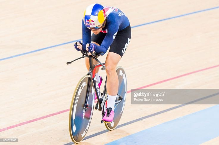 #TWC2017 Chloe Dygert of USA competes on the Women's Individual Pursuit Finals during 2017 UCI World Cycling on April 15, 2017 in Hong Kong, Hong Kong.