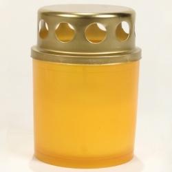 candela din plastic cu capac de la http://www.serplastsrl.ro, diferite culori in baxuri de 20 de bucati