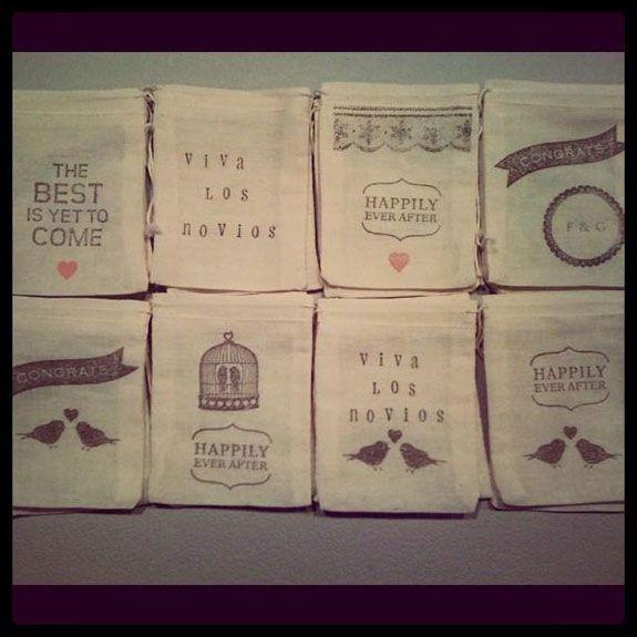 bolsitas para papel picado/arroz para tirar a los novios. Ideas: hacer un sello!!!  404283_322412054469982_186957881348734_1034666_1569331870_n