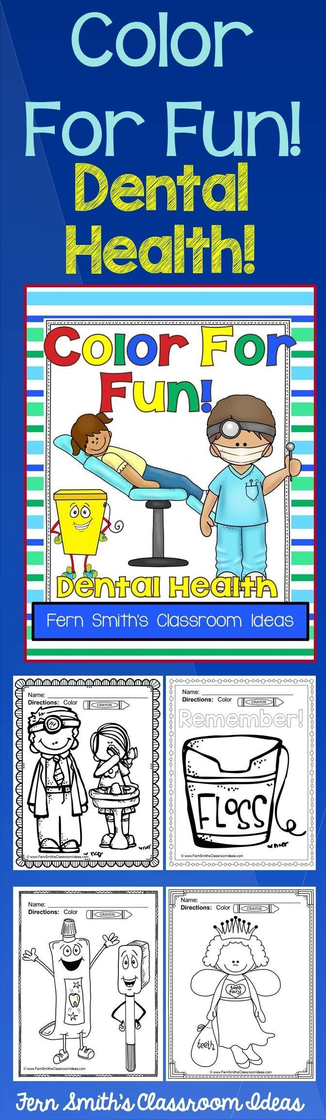 Childrens dental coloring pages - Dental Health Fun Coloring Pages