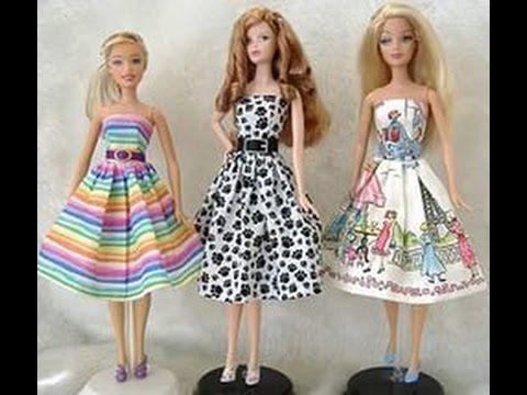 barbie bebek elbise yapımı çok kolay ( komple elbise )