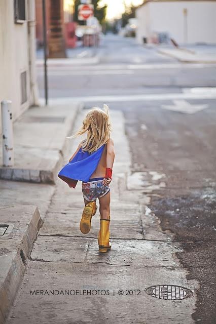 A tiny super hero!