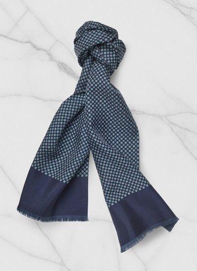 Accessoire homme en soie : achetez votre foulard tubulaire bleu perd2foul-f254/34_tu et découvrez toute la collection de vêtements homme De Fursac.