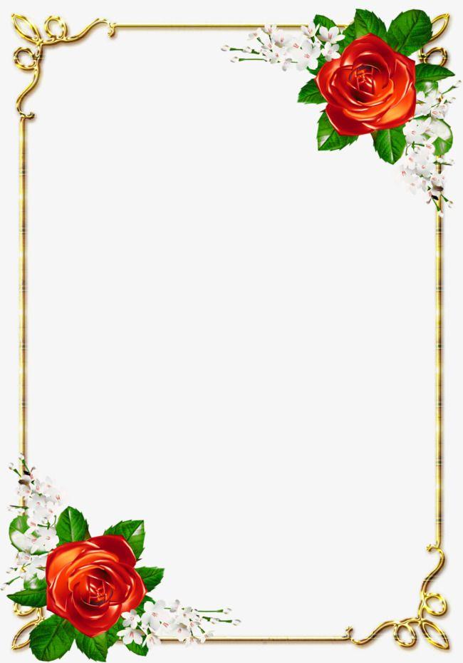 Beautiful Red Roses Corner Free Border Design Hd Rose Beautiful Red Roses Border Design