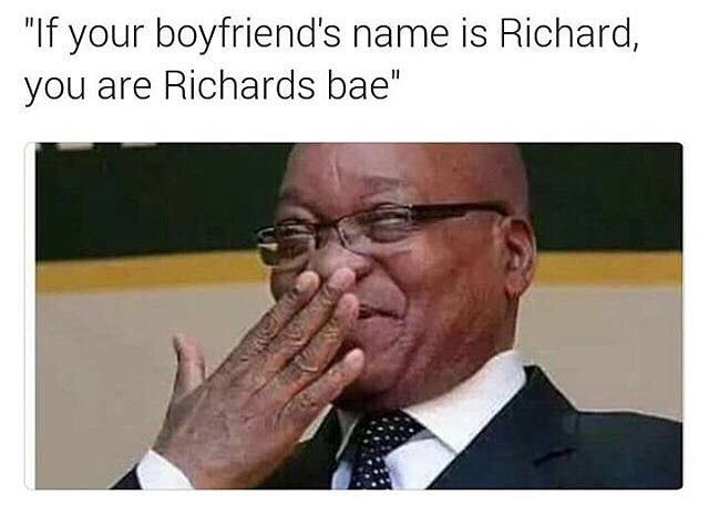 Tag a Richard and tag his bae #southafrica #funny #fresh #bae