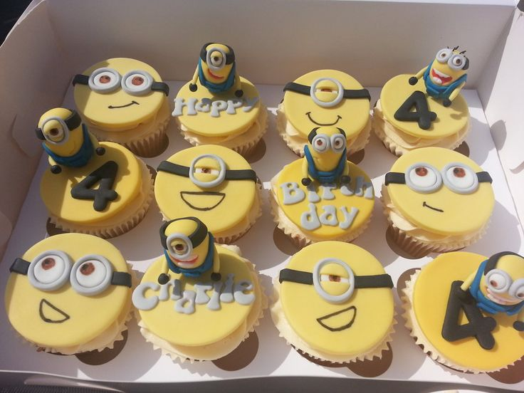 Minions cupcakes, inspired from Dispicical me film