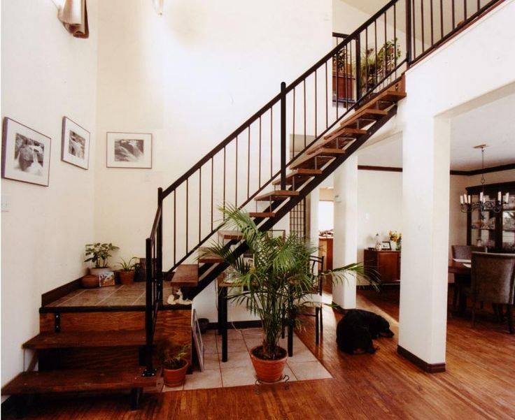 Black Painted Stair Railings | Click On Any Picture To Enlarge It *