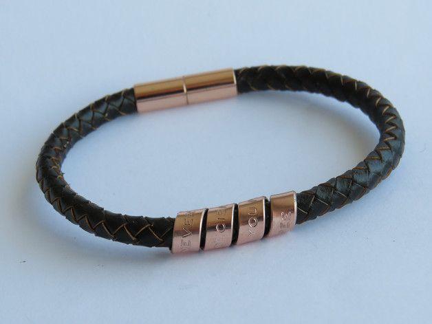 Männer personalisierte Armband eingraviert Armbänder, inspirierend Armbänder, Lederarmband, Männer graviert Armbänder Geschenk für ihn, Geschenk für Vater, Schreiben Sie Ihre persönliche...