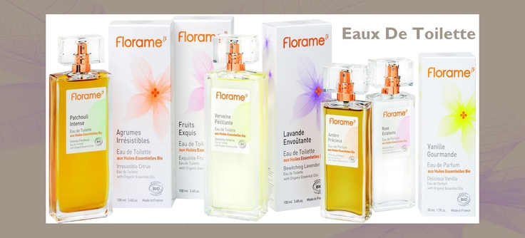 Eaux de Parfum & Eaux de Toilette -                             Florame's Eaux de Toilette and Eaux de Parfum with organic essential oils offer you top quality fragrance creations and genuine concentrates of nature.     Exclusively made with organic and natural ingredients, they protect your skin and reveal your inner personality.     Spray on according to your mood