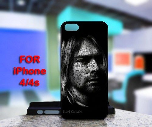 Kurt Cobain For IPhone 4 or 4S Black Case Cover