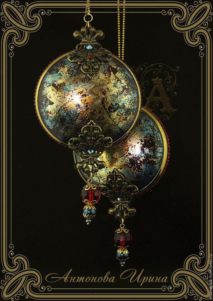 """Купить Елочные украшения-""""Вселенная-3"""" - комбинированный, елочные игрушки, елочные украшения, елочная игрушка"""