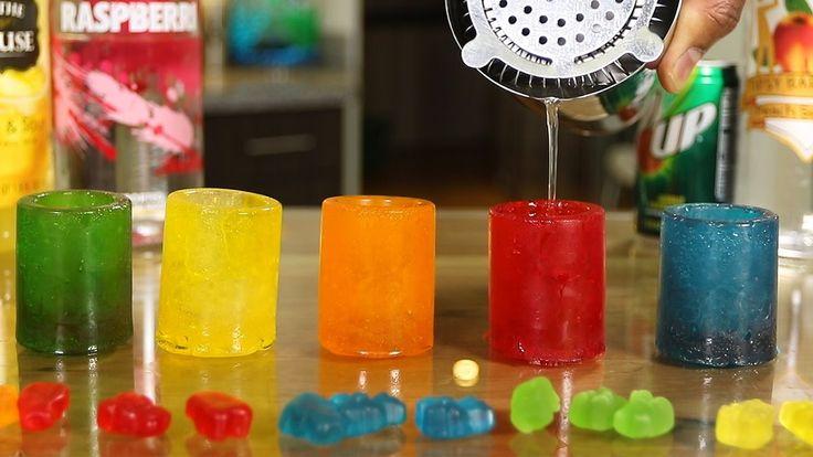 Gummy Bear Shot Glasses & White Gummy Bear Shot
