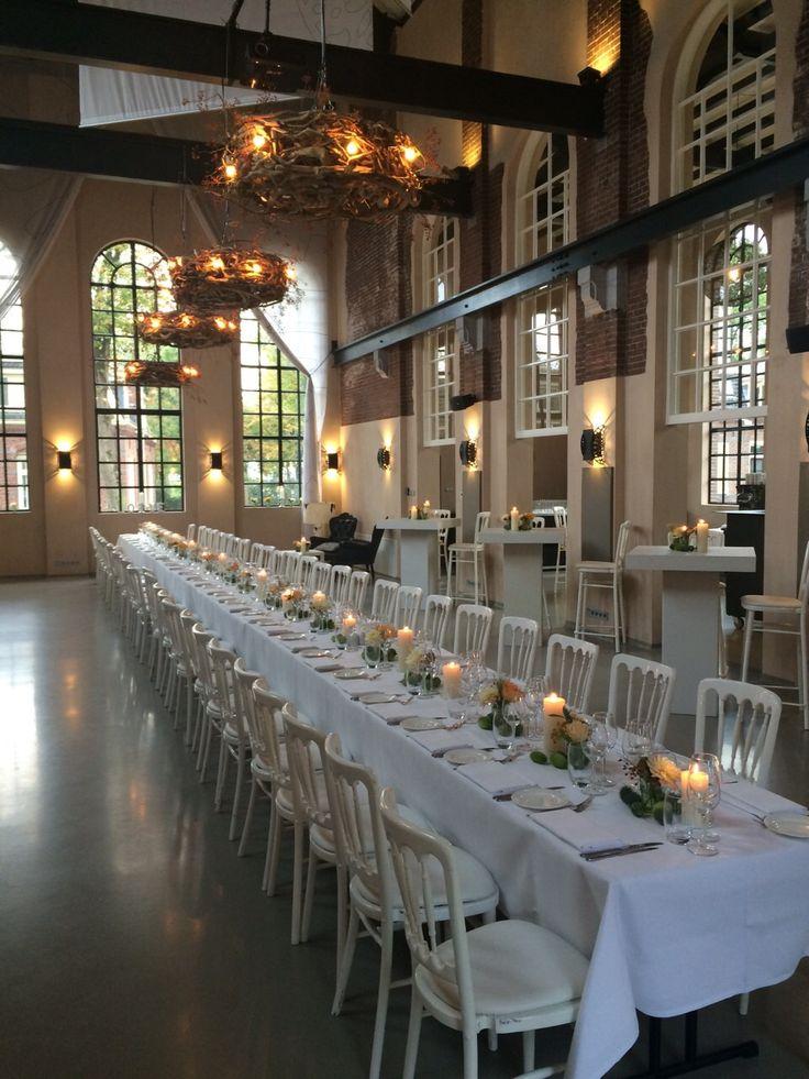 Diner met decoratie bij Explore by Lute in Muiden.  www.lute.nu van Peter Lute