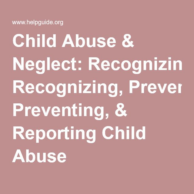 signs and symptoms of child abuse essay