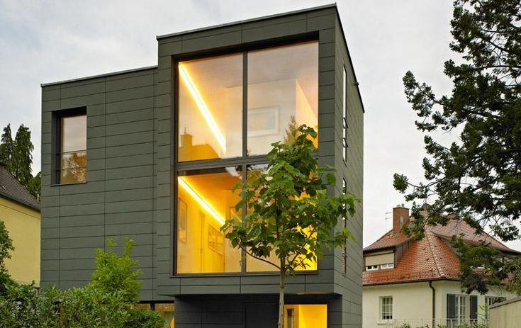 Hier können Sie Schnitte, Grundrisse und Ansichten von Architektenhäusern aus der Zeitschrift HÄUSER herunterladen
