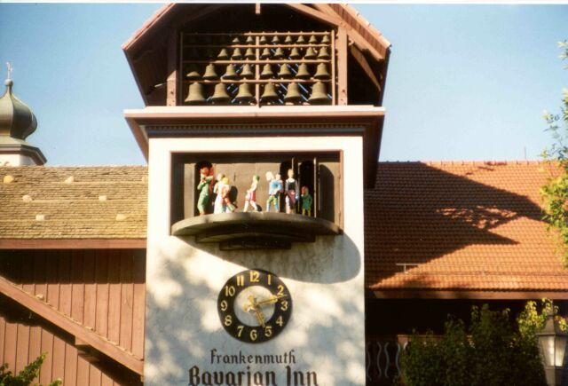 Frankenmuth Michigan Photos Clock Here I Am Standing On