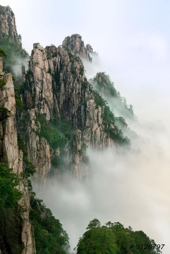 Nature Landscape Photography Yellow Mountain Huangshan Etsy Mountain Landscape Photography Landscape Photography Nature Chinese Landscape