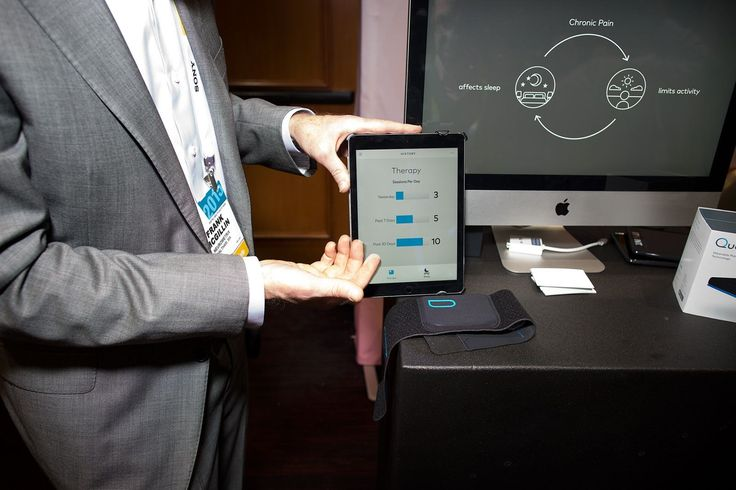 Quell is a smart wearable that uses neurostimulation to quell chronic pain from diabetic neuropathy, fibromyalgia, sciatica and other disorders.