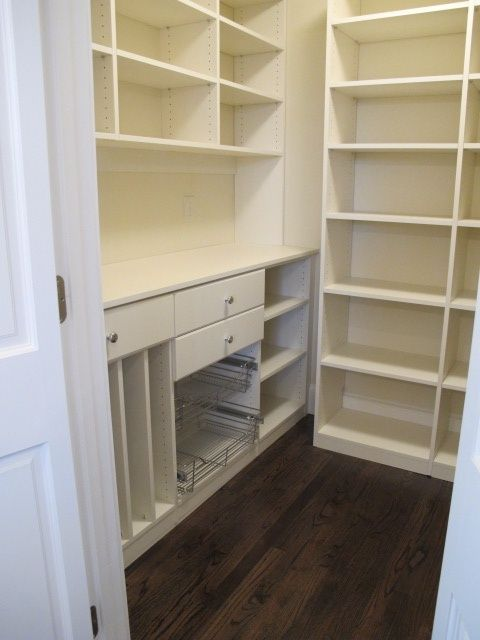 pantry - like the left side, lower section - for the right side of my pantry