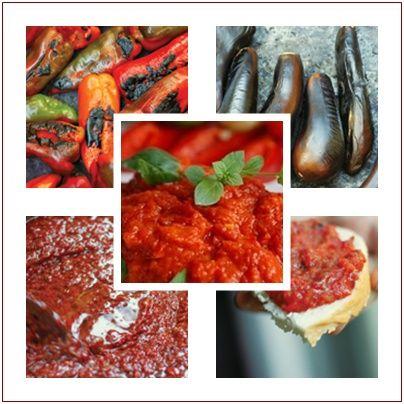 Köz Patlıcanlı ve Köz Biberli Sos ( Lutenika )