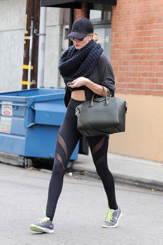 How to workout like a supermodel: Accessorize, accessorize, accessorize like Rosie Huntington-Whiteley