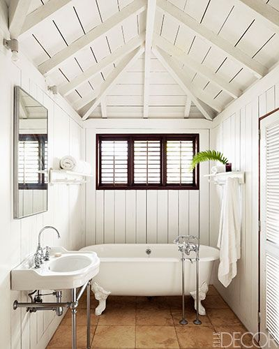 Christian Liaigre S St Barts Home Homes In St Barts Elle Decor Bathrooms Pinterest