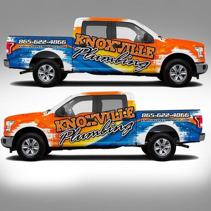Best Truck Wraps Images On Pinterest Lifted Trucks Car And - Decals for trucks customizednailed it plumbers custom car decal that makes him look like