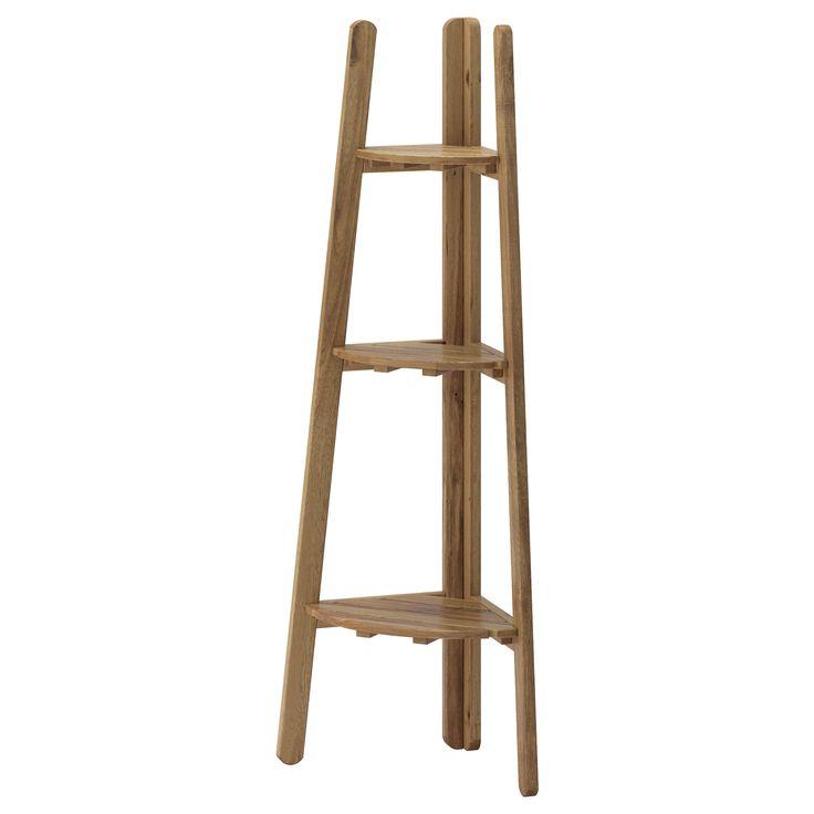 IKEA - ASKHOLMEN, Blumenständer, Zur Erhöhung der Haltbarkeit und damit die natürliche Holzstruktur sichtbar bleibt, wurde das Möbelstück mit einer Schicht halbtransparenter Holzlasur vorbehandelt.