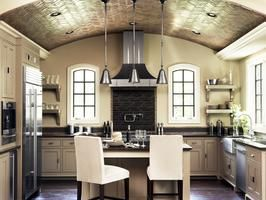What's on your holiday wish list? What about a brand new kitchen? Enter our Wishin' For a Kitchen Giveaway here >> http://www.diynetwork.com/wishin-for-a-kitchen/package/index.html?soc=pinterestCabinets, Paris, Ideas, Kitchens Design, Ceilings Design, Bricks, Barrels Ceilings, Modern Kitchens, Vaulted Ceilings