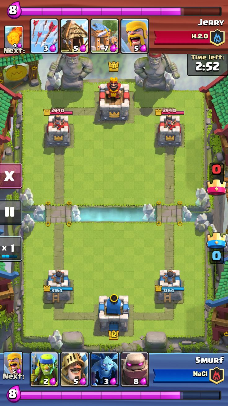 """""""Clash Royale"""" on iOS. Match playback screen."""