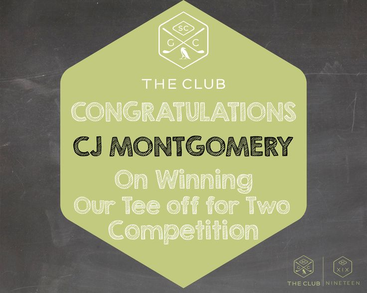 Congratulations CJ Montgomery on winning our Tee off for Two Competition!