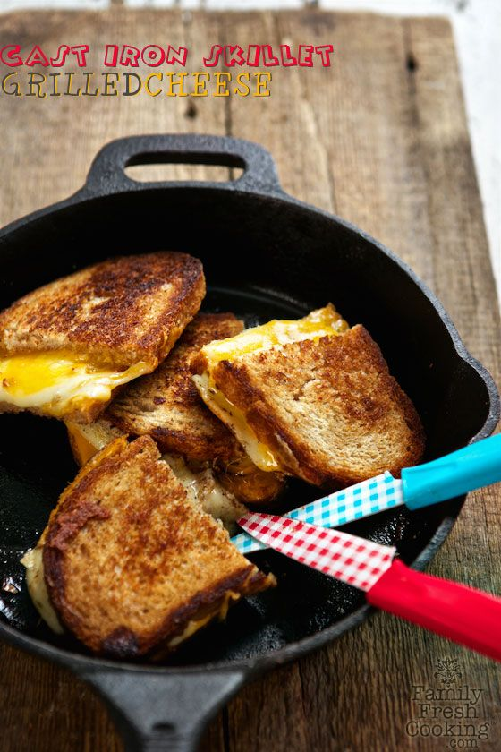 Cast Iron Skillet Grilled Cheese Sandwiches | The BEST Grilled Cheese! MarlaMeridith.com