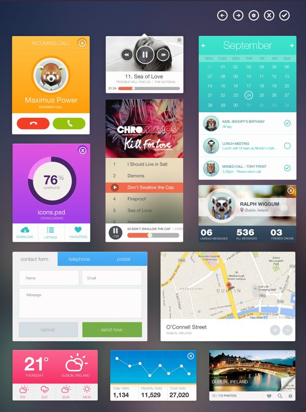 Nice flat design UI.