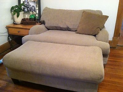 4 Piece Taupe Sofa Love Seat Oversized Chair Ottoman Something Like This  For Napping