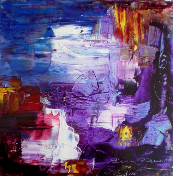 Peinture abstraite huile au couteau sur toile peinture for Toile abstraite