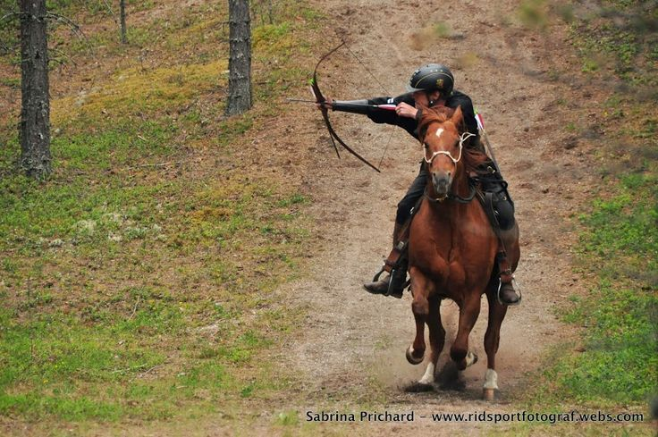 Barco and Tero Ulvinen, Finland at DHA Hunt track Cup, Swedish hunt track in horseback archery, Rättvik June 2014. Silver medal! Photo: Sabrina Prichard