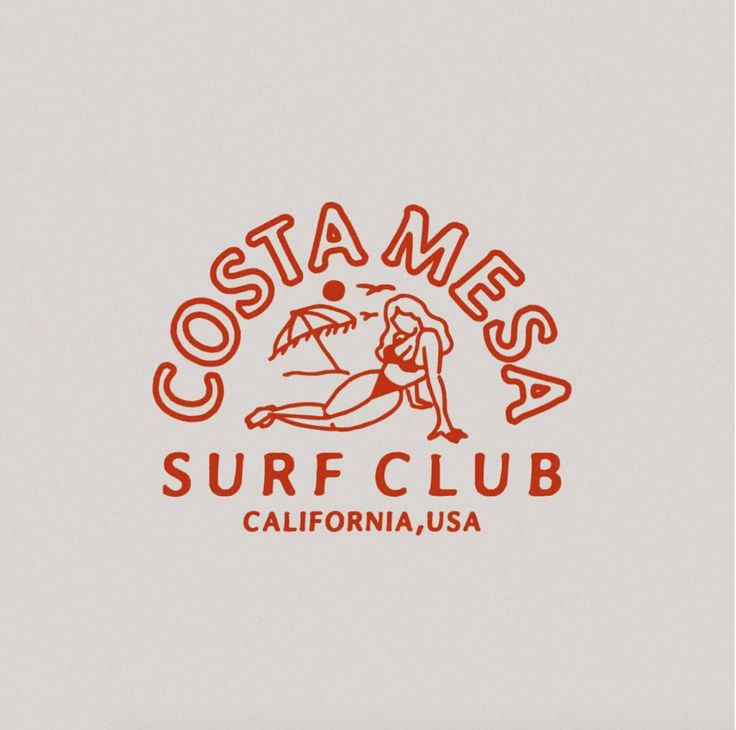 Illustration for Costa mesa surf club
