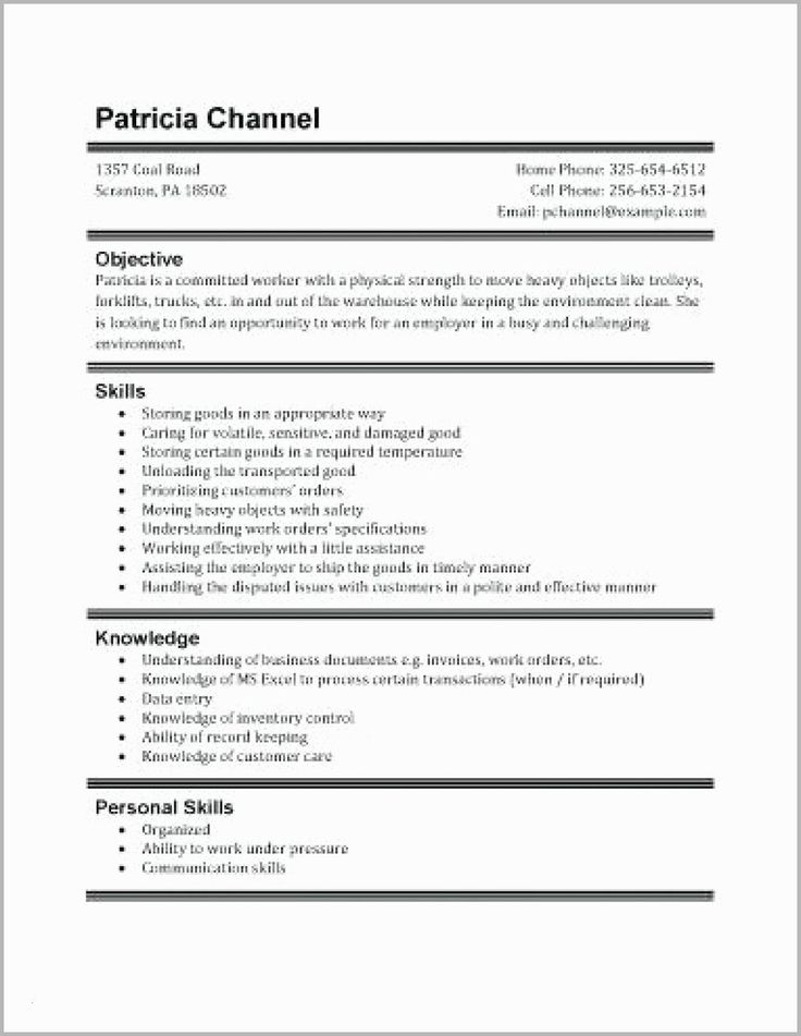 32 Inspirational Part Time Job Resume in 2020 First job