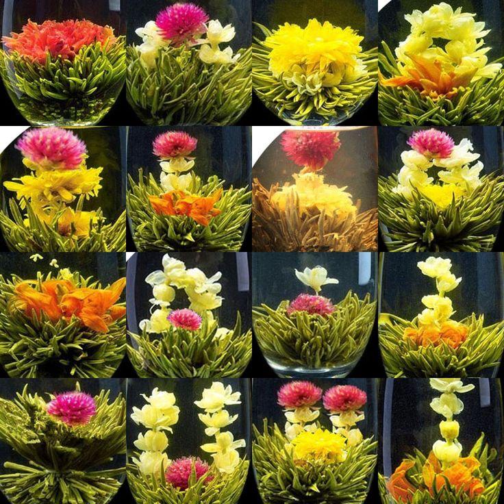 Promotion! emballage Sous Vide individuel 16 sortes de thé de Floraison Artistique de Fleur de Fleur De Thé Livraison Gratuite