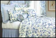 Brighton Blue Toile Oversize King Quilt