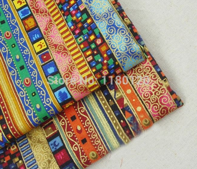 Cheap bag loop, Buy Quality material base directly from China bag making materials Suppliers: Retro material Arab stripes style home decor linen fabric lady bags cotton cloth accessories 50*140cm sold by half a meter
