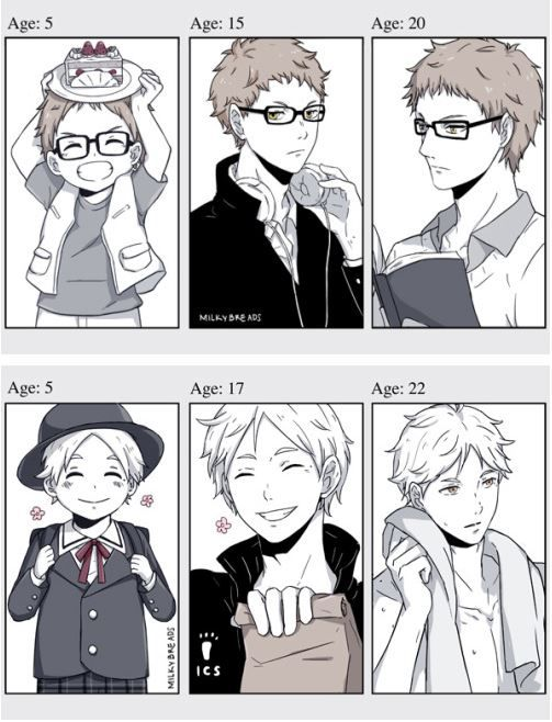 Haikyuu!! ~~ Growing Up! - Tsukishima Kei and Sugawara Koushi