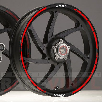 Ducati Monster 821 >> _Racevinyl SPEED YAMAHA TMAX pegatinas adhesivos llanta vinilo rim sticker stripes moto   Tmax ...