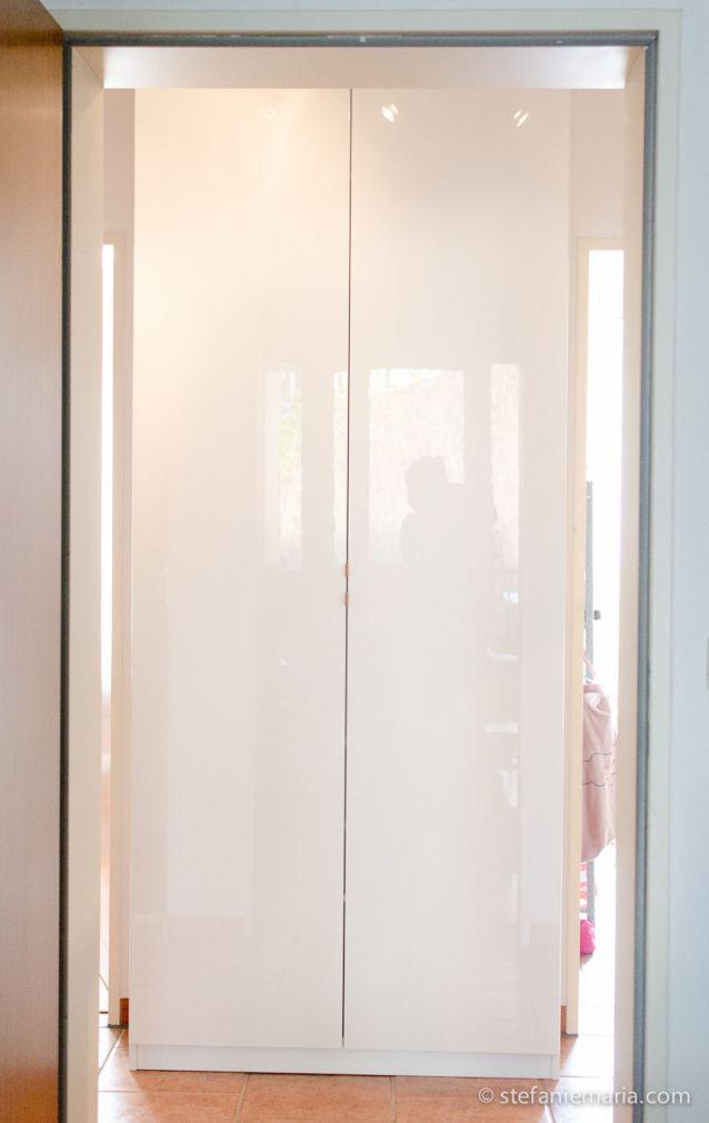 Ikea Pax Schrank Mit Fardal Türen In Hochglanz Weiß Für