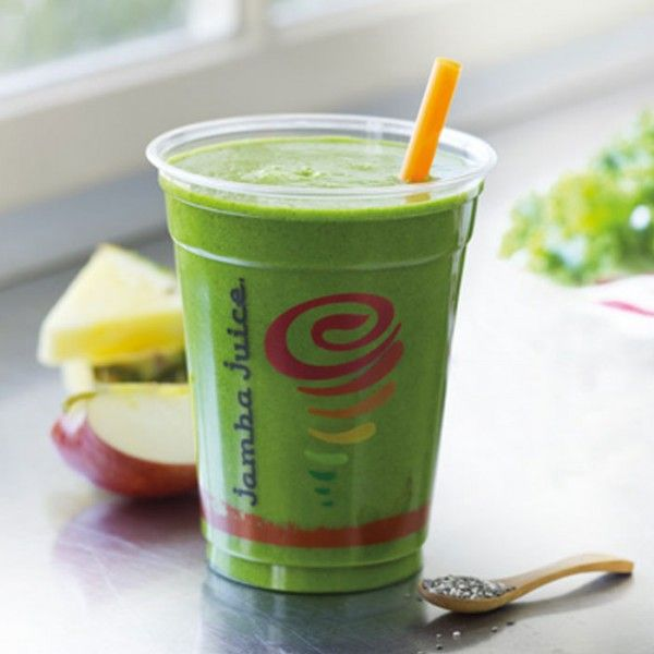 Healthy Smoothies at Jamba Juice: Kale Apple Pineapple Chia Seeds - Healthy Smoothies at Jamba Juice - Shape Magazine