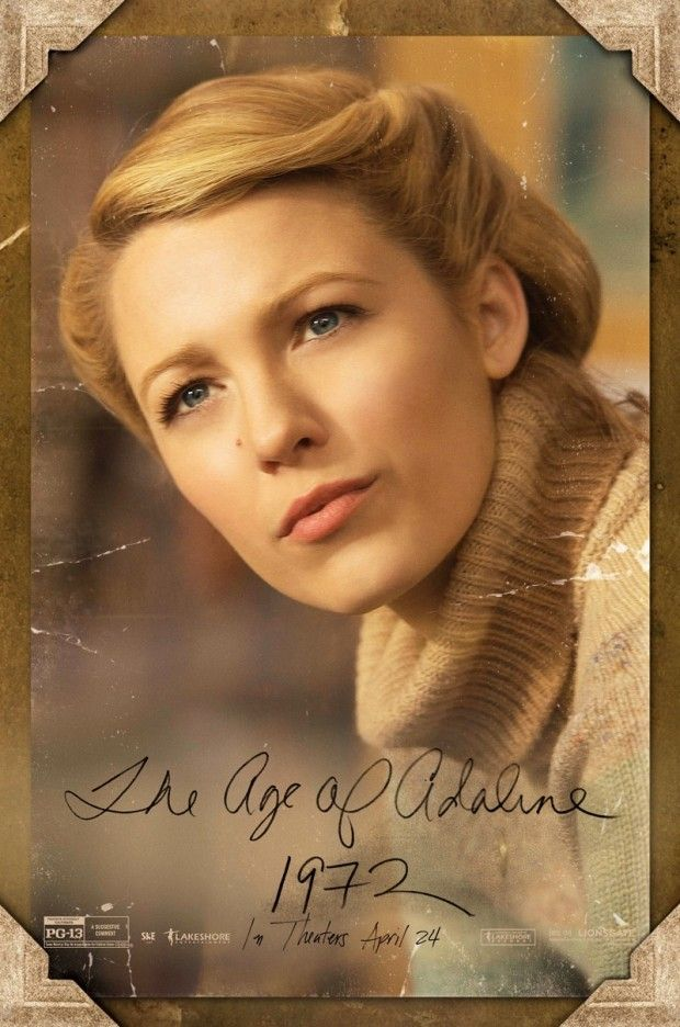 Os Posters Do Filme A Incrivel Historia De Adaline Com Blake