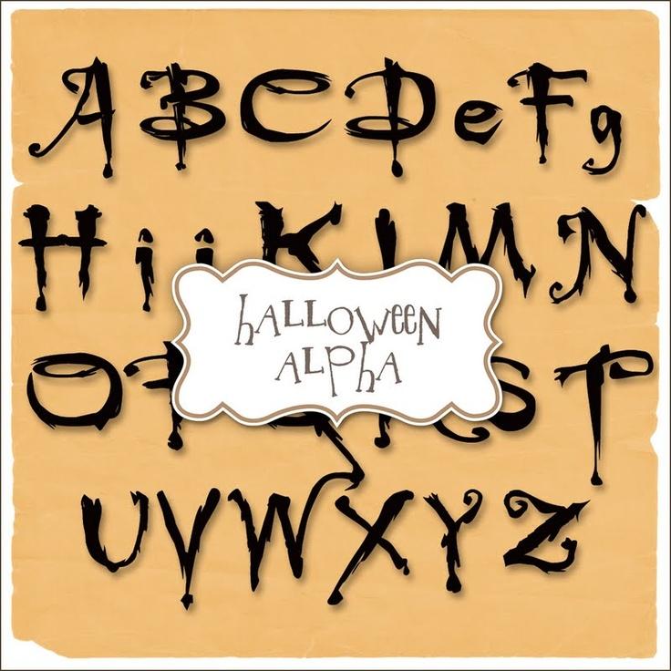 halloween alphabet letters free