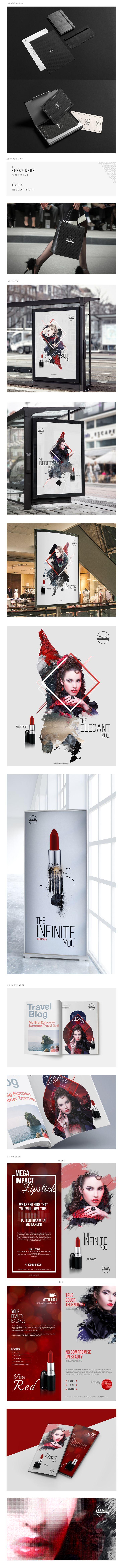 Poster design on mac -  Logo Rebranding Campaign Advertising Project Cosmetics Lipstick